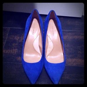 Banana Republic Colbalt Blue Suede Heels sz 8.5